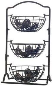 Rooster 3 Tier Hanging Baskets