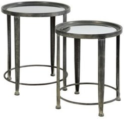 Nesting Round Side Tables, Set of 2