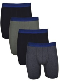 4 Pack Cotton Stretch Boxer Brief