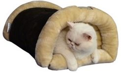 Cat Cave Beds For Indoor Cats 2-In-1 Plush Cat Beds Mat Warm Tunnel Tube Kitty Mat Pad