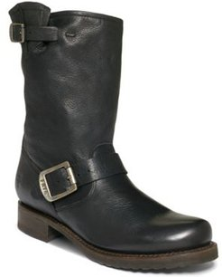 Veronica Short Leather Boots Women's Shoes