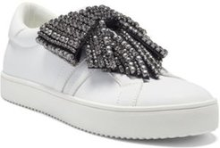 I.n.c. Women's Danelia Rhinestone Bow Lace-Up Sneakers, Created for Macy's Women's Shoes