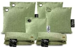 Set of 9 Green Charcoal Bags