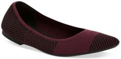 Step 'N Flex Poppyy Pointed Toe Knit Flats, Created for Macy's Women's Shoes