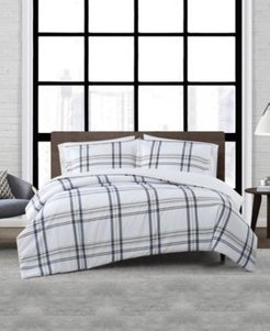 Kent Plaid 3 Piece Comforter Set, Full/Queen Bedding