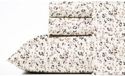 Leopard Cotton Percale Twin Sheet Set Bedding