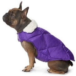Fleece-Collar Quilted Dog Coat, Created for Macy's