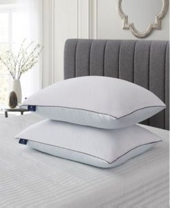 Cooling Summer/Winter Goose Feather King Pillow Set, 2 Pack