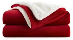 """Dream Collection by Lucid 50"""" x 60"""" Fleece and Sherpa Blanket Bedding"""