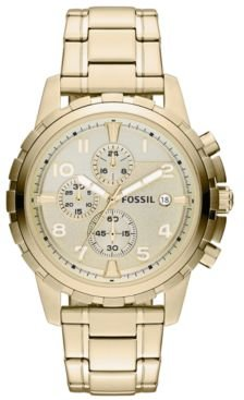 Chronograph Dean Gold-Tone Stainless Steel Bracelet Watch 45mm