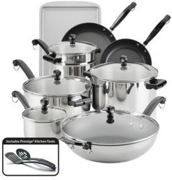 Classic Series Stainless Steel 16-Pc. Cookware and Bakeware Set