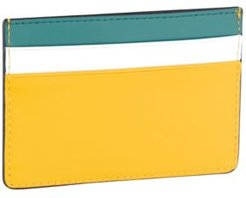 Colorblocked Nappa Leather Card Case