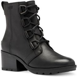 Cate Waterproof Lace-Up Lug Sole Booties Women's Shoes