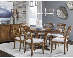 Highland Round Dining Table 7-Pc. ( Round Table & 6 Side Chair),Created for Macy's