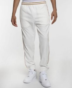 Velour Men's Track Pant with Piping