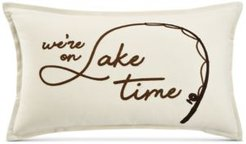 """Lake Time 14"""" x 24"""" Decorative Pillow, Created for Macy's"""