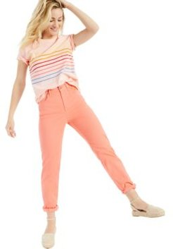 Petite Printed Cotton T-Shirt, Created for Macy's
