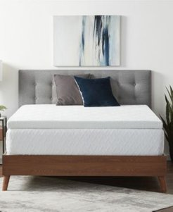 """Dream Collection by Lucid 3"""" Gel Memory Foam Mattress Topper with Breathable Cover, Twin Xl"""