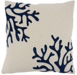 """Coral Design Pillow Cover, 18"""" x 18"""""""