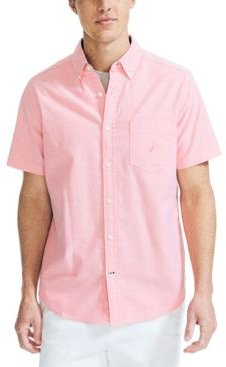 Classic-Fit Stretch Solid Oxford Shirt