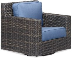 Viewport Wicker Outdoor Swivel Glider with Sunbrella Cushions, Created for Macy's
