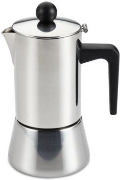 4-Cup Stainless Steel Espresso Maker