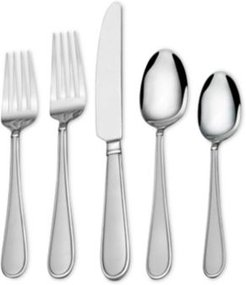 Gourmet Basics by Mikasa 18/0 Stainless Steel 20-Pc. Westfield Frost Flatware Set, Service for 4