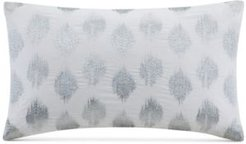 """Nadia Embroidered Dot 12"""" x 18"""" Decorative Pillow Bedding"""