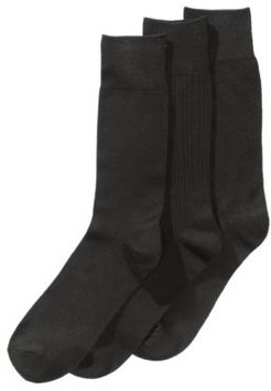 Perry Ellis Men's 3-Pk. Stay Dry Comfort Socks