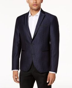 Slim-Fit Navy Shine Dinner Jacket
