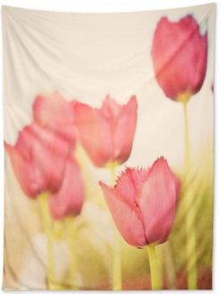 Bree Madden Pink Tulips Tapestry