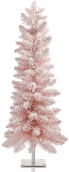 Shimmer and Light 3FT Pink Flocked Tree, Created for Macys