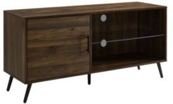 """52"""" Modern Tv Stand Media Storage Console with Black Legs"""