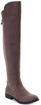 Hayley Wide-Calf Over-The-Knee Zip Boots, Created for Macy's Women's Shoes