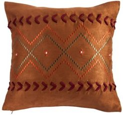 "Embroidered Aztec 18""x18"" Pillow"
