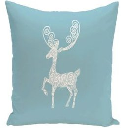 16 Inch Light Blue Decorative Christmas Throw Pillow