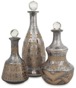 Acadia Glass Decanters - Set of 3