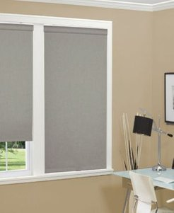 """Cordless Linen Look Thermal Fabric Roller Shade, 36""""x66"""""""