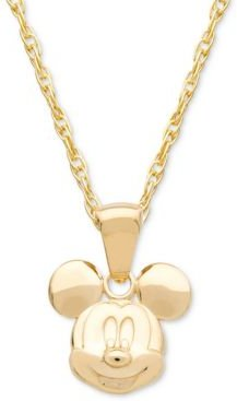 """Children's Mickey Mouse 15"""" Pendant Necklace in 14k Gold"""