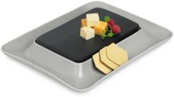 Closeout! Hotel Collection Modern Wood & Stone Cheese Cracker Server, Created for Macy's