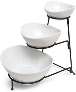 Gracious Dining 3 Tier Bowl Server Set with Metal Stand