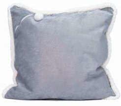 Corduroy Metallic X-Large Square Storage Floor Pillow with Sherpa Trim and Pocket