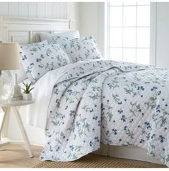 Forget Me Not Quilt and Sham Set, King/California King Bedding