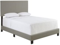 Carson Queen Faux Leather Upholstered Platform Bed Frame