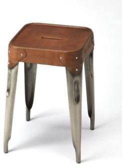 Butler Connor Leather Centre Stool