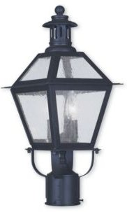Closeout! Livex Waldwick 2-Light Outdoor Post Lantern