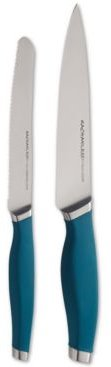Cutlery Japanese Stainless Steel 2-Pc. Utility Knife Set, Teal