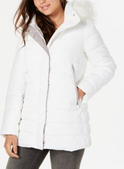Inc Faux-Fur-Trim Hooded Puffer Coat, Created for Macy's