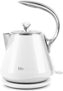 1.2L Cool-Touch Stainless Steel Electric Kettle, White