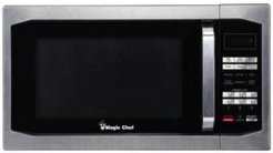 Magic Chef 1.6 Cubic Feet 1100W Countertop Microwave Oven with Stylish Door Handle